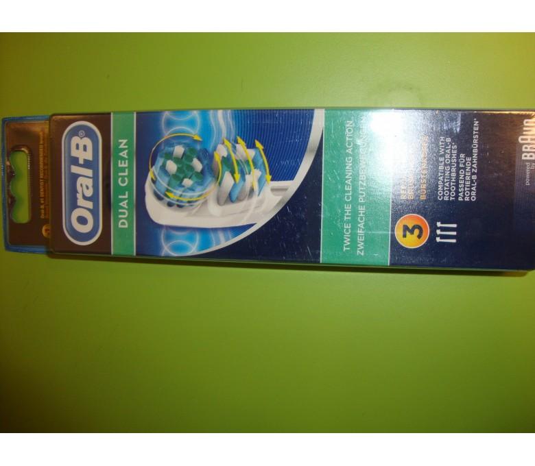 Recambio cepillo dental BRAUN ORAL-B dual clean