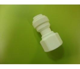 Racor recto a tornillo filtro agua frigorífico Americano