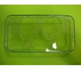 Huevera transparente (5 huevos) 16.7x8.2cm