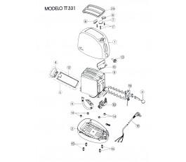 .Despiece tostador JATA TT331