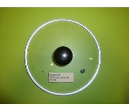 Tapa de vidrio de 20 cm diametro