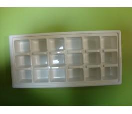 Cubitera blanca (18 cubitos cuadrados)