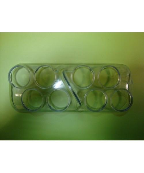 Huevera transparente con asa (8 huevos)