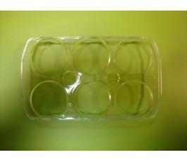 Huevera transparente (6 huevos)