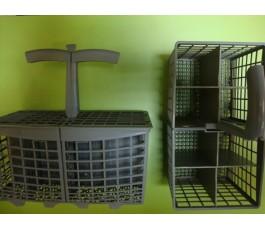 Cesta lavavajillas gris para modelos de 60 cm.