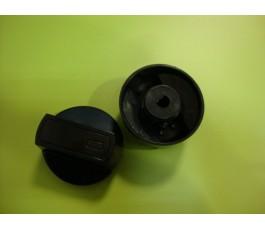 Mando cocina estándar negro s/eje 6mm