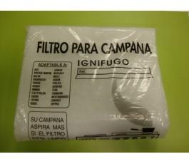 Filtro campana de carbono ignífugo 60x45